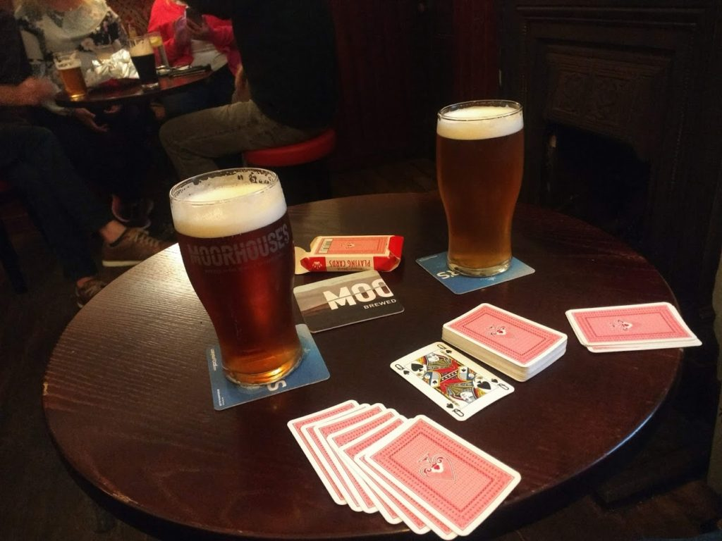 cards at the new inn, clitheroe - Katie Taylor Oct 2018
